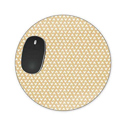 ange Mousepad–Neopren für optische und Laser Maus–Rechteck Rund Herzform, orange, Round Mousepad (Orange Polka Dots)