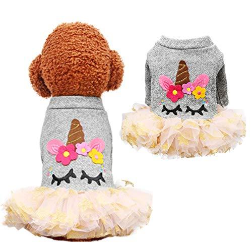 Supfirefly Halloween Pet Kleid, Cosplay Einhorn Hund Kostüm Mantel, Haustier Kleidung Hoodie für Hunde und ()