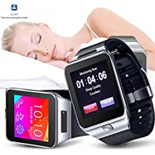 Indigi® swap2GSM Bluetooth Smart Watch Cell Phone Touch Screen MP3Spy Camera at & T/T-Mobile/StraighTalk sbloccato. (Argento)