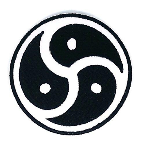 (Aum Om Ohm Hindu Yoga indischen Lotus Lucky Zeichen Hippie Retro Biker Jacket T-shirt Vest Patch Sew Iron on gesticktes Badge Custom)