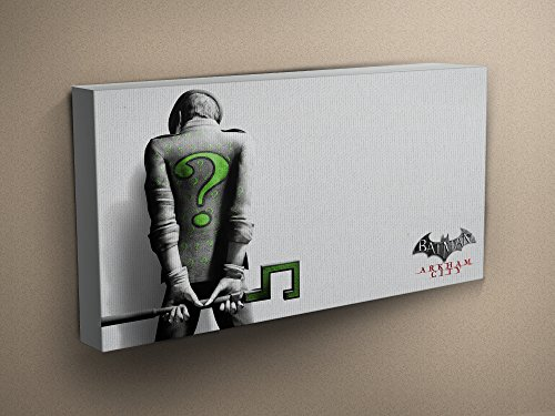 Batman-Arkham-City-Riddler-Stretched-Mounted-Canvas-Art-Print-Perfect-Gift-Various-Sizes