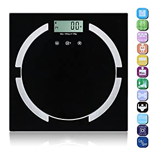 OGORI 180 Kg Digital Electronic Glass Lcd Bathroom Body Weighing Scale Measuring