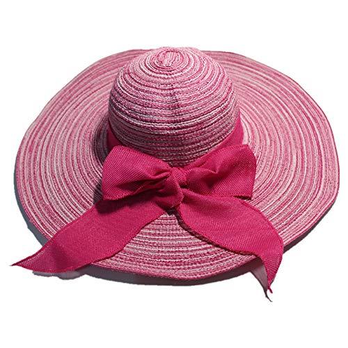 Big Hat weibliche 1-7 Baumwolle und Leinen entlang der Rose rot -