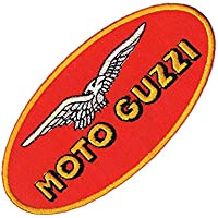 "Logo Aufnäher / Iron on Patch "" MOTO GUZZI """