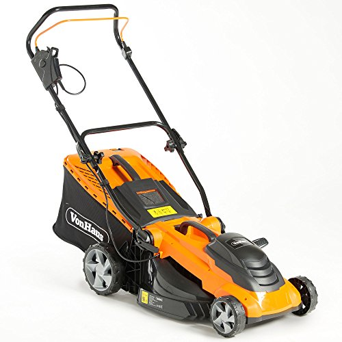 VonHaus 1800W Lawnmower with 42cm Cutting Width and Variable Cutting Height –50L Capacity
