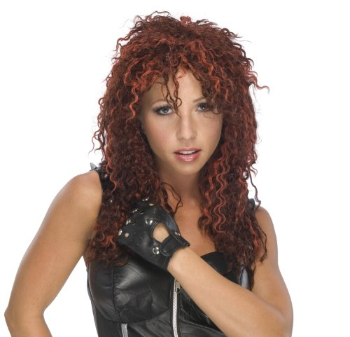 80's Punk You Rock Adult Costume Red Wig