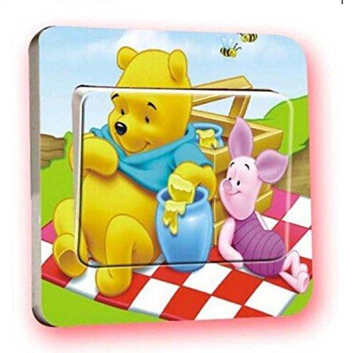 Disney Winnie pooh Lichtschalter Wandsticker selbstklebend Kinder Aufkleber Disney Winnie pooh Cartoon Motiv Deko Schalter- CartoonPrintDesign - L007