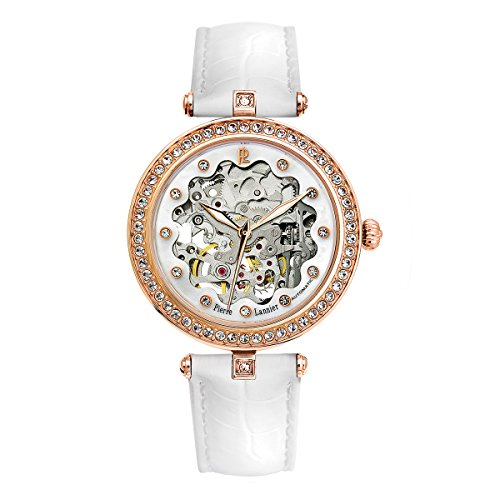 pierre lannier womens analogue automatic watch with leather strap 316b990