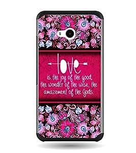 Fuson Love Is Joy Designer Back Case Cover for Microsoft Lumia 640 LTE (Love Quotes Inspiration Emotion Care Fun Funny)