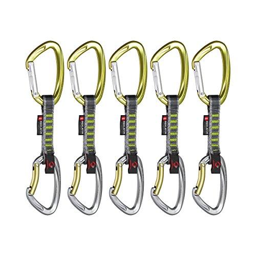 Mammut Express Set 5er Pack Crag Indicator, Straight Gate/Bent Gate Leaf, 10 cm, 2210-01410-31112