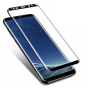 Johra® Tempered Glass Screen Protector Guard For Samsung Galaxy S9 (Black)