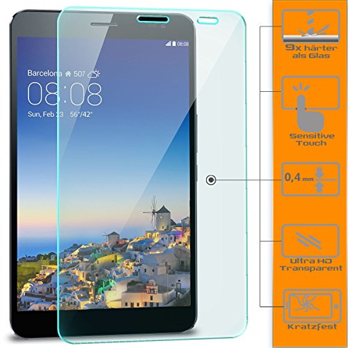 Saxonia 1x Bildschirmschutzglas für Huawei MediaPad X1 / X2