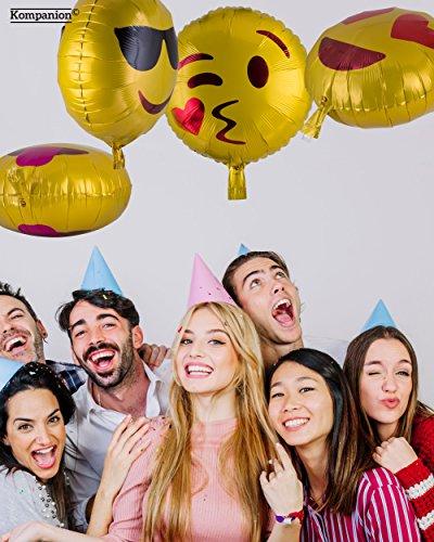 Emoji Party Ballons 25 Pack Party Ausstattung, Packung mit Verschiedenen Emoticon Helium Ballons - 3