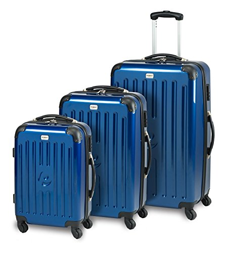 Princess Traveller Koffer New York Kofferset 3 Stück 77 mm 81 Liters (Blau) 30010010010406
