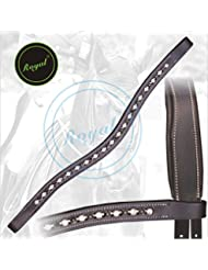 Royal Designer Sparkling Black & White linked U-Shaped Crystal Brow Band.