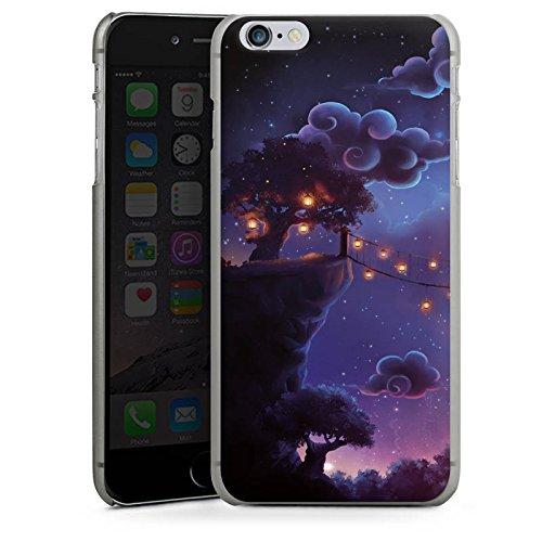 Apple iPhone X Silikon Hülle Case Schutzhülle Fantasie Wolken Nacht Hard Case anthrazit-klar