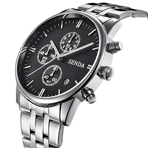 ChenHui Uhr, Klassische Retro-Glamour-Quarz-Uhr für Herren, 6-Pin wasserdichte Kalender-Herrenuh