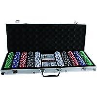 Out of the Blue 79/3982 - Pokerset im Alukoffer mit 5 Würfeln, 2 Kartenspielen und 500 Chips 11.5 g