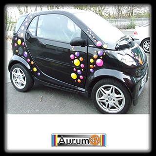 Aurum92 Multi Coloured Bubbles Car Stickers