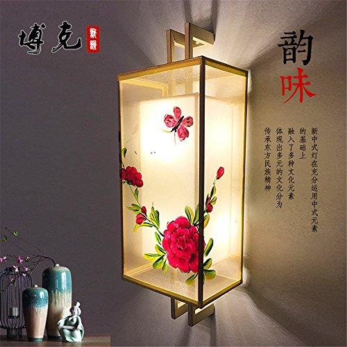 YU-K Chambre Simple Vintage wall lamp creative living salle à manger chambre lumières lumières allée nouveau wall lamp lampe de chevet chambre antiques couloirs couloir Chine Projet d'hôtel vent wall lamp, 500 * 180 mm