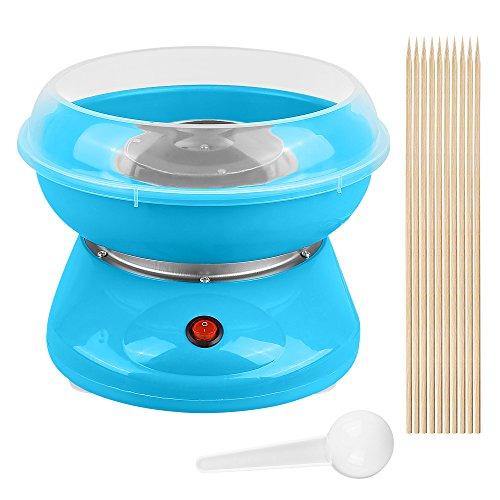 Elektrische Zuckerwattemaschine Zuckerwatte-Maschine für zuhause Automat Zuckerwattegerät Cotton Candy Machine 500W (Blau)