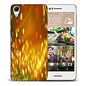 Snoogg Golden Sparkles Abstract Printed Protective Phone Back Case Cover For HTC Desire 728