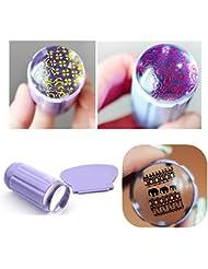 Born Pretty 2pcs/set Clear Jelly Nail Art Stamper Clear Silicone Marshmallow Nail Stamper & Scraper #24021