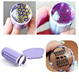 Born Pretty 2pcs/set Clear Jelly Nail Art Stamper Clear Silicone Marshmallow Nail Stamper & Scraper