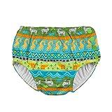 i play. Boys' Snap Reusable Absorbent Swim Diaper-mm, Green Safari, 3T