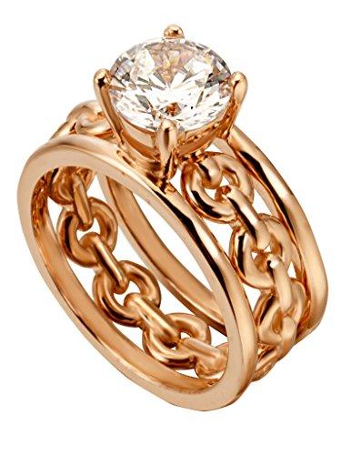 Esprit ESRG00261317 Damen Ring Ann Sterling-Silber 925 Rose Weiß Zirkonia 17,2 mm Größe 54