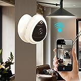 UBest-Cam Tragbare Mini-IP-Kamera, 1280x720p Heimüberwachungskamera drahtlose IP-Kamera mit eingebautem Mikrofon WiFi Überwachungskamera , Baby-Videomonitor Nanny Cam