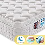 Ej. Life 3FT Single Pocket Sprung Mattress with Tencel Fabric - Multi-Functional 9-Zone