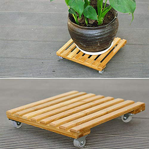 AITOCO Wooden Plant Pot Wheels Plant Pot Caddy Square for sale  Delivered anywhere in Ireland