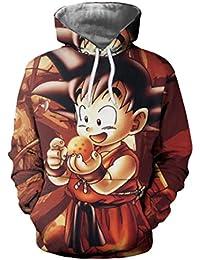 f59e0c3ee211 Herqw61 Unisex Dragon Ball Pullover Hoodie 3D Dragonball Pulli Sweatshirt  für Herren Jungen Damen und Mädchen