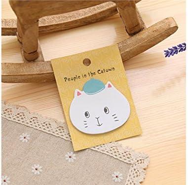 Apprentissage Chat mignon note collante pour note de message message message avec un carton (jaune) Étiquette | Technologie Sophistiquée  97fde0