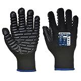 Anti-Vibrations-Work Wear Arbeiten Sicherheit Handschuh, Schwarz