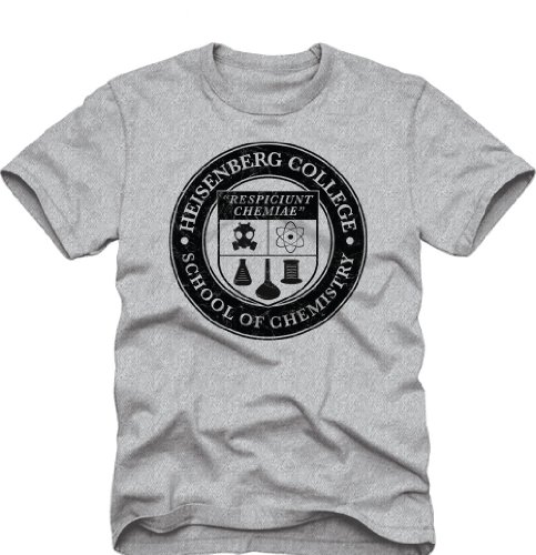 Breaking Bad Heisenberg College School of Chemistry Erwachsene Heather grau T-Shirt Heather Grau