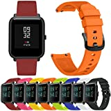 Zolimx Deporte de Fitness Smartband Suave Silicona Accesorios Reloj Inteligente Banda Wirstband para Huami Amazfit Bip Youth Watch (Negro)