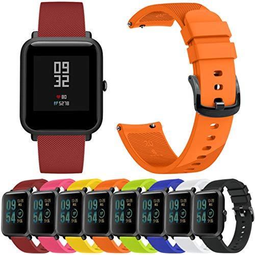 Zolimx Deporte de Fitness Smartband Suave Silicona Accesorios Reloj Inteligente Banda Wirstband para Huami Amazfit Bip Youth Watch (Blanco)