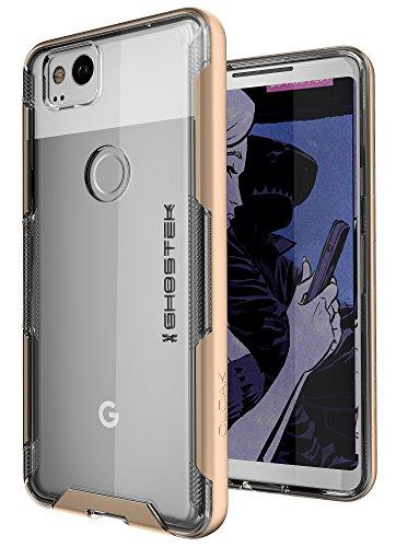 Google Pixel 2Fall, ghostek Umhang 3Serie Ultra Slim Transparent Hybrid stoßfest Schutzhülle für pixel22017-Unterstützt Fingerabdruck Touch ID, Gold - Autumn Gold-finish