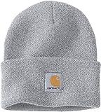 Carhartt A18 Beanie - Cappello invernale, berretto per lui e per lei,100%Polyacryl(dralon),colori diversi (Grigio Chiaro)