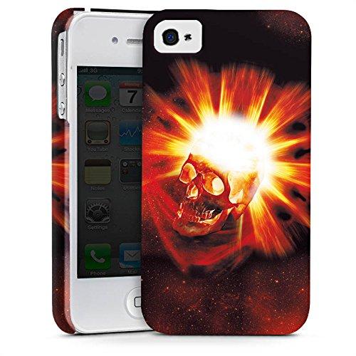 Apple iPhone X Silikon Hülle Case Schutzhülle Totenkopf Schädel Licht Premium Case glänzend
