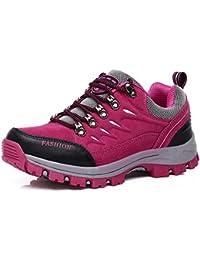 FMCAMEL Zapatos de senderismo,Impermeable Hombre Mujer zapatos de montaña para paseos Viajes Zapatillas de deporte al aire libre zapatos de trekking botas de trekking de cuero de escalada