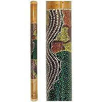 Regenmacher aus Bambus - 80cm - bemalt - Regenrohr