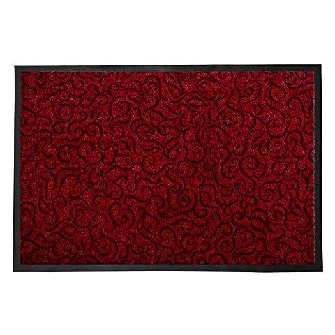 Tapis Conforama Rouge - Tapis anti-poussière décoratif casa pura® rouge |