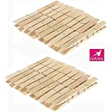 Wooden Clips Bamboo Cloth Pegs Set Of 20 Clips