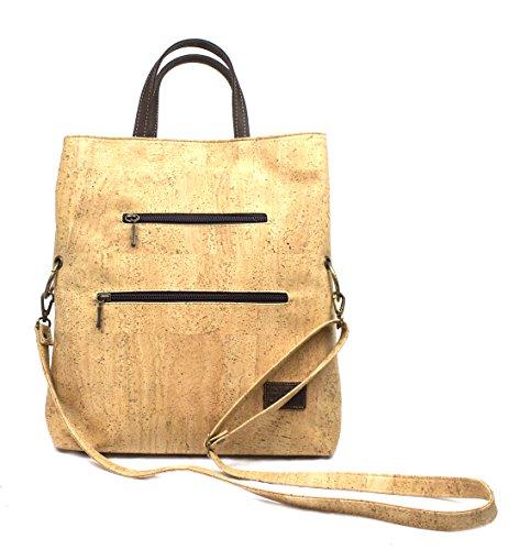 VEGAN CORK CROSS-BODY BAG 100% ANIMAL FREE by Dux Cork GENUINE PORTUGUESE PREMIUM Cork Fabric 100% QUALITY GUARANTEE