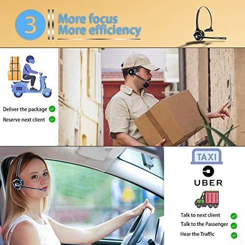 DIGMALL Auricolare Bluetooth per telefoni cellulari Trucker con Microfono  HD e Musica Stereo c0028a24176d
