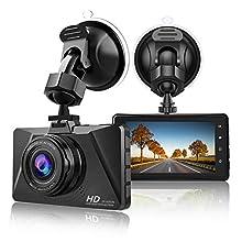 【2019 New Version】CHORTAU Dash Cam 1080P Full HD Car Camera DVR Dashboard Camera Driving Video Recorder, 3 Inch Screen 170° Wide Angle with Loop Recording, Parking Monitor, Motion Detection, G-Sensor