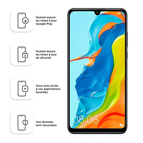 "Foto Huawei P30 Lite Midnight Black 6.15"" 4gb/128gb Dual Sim"